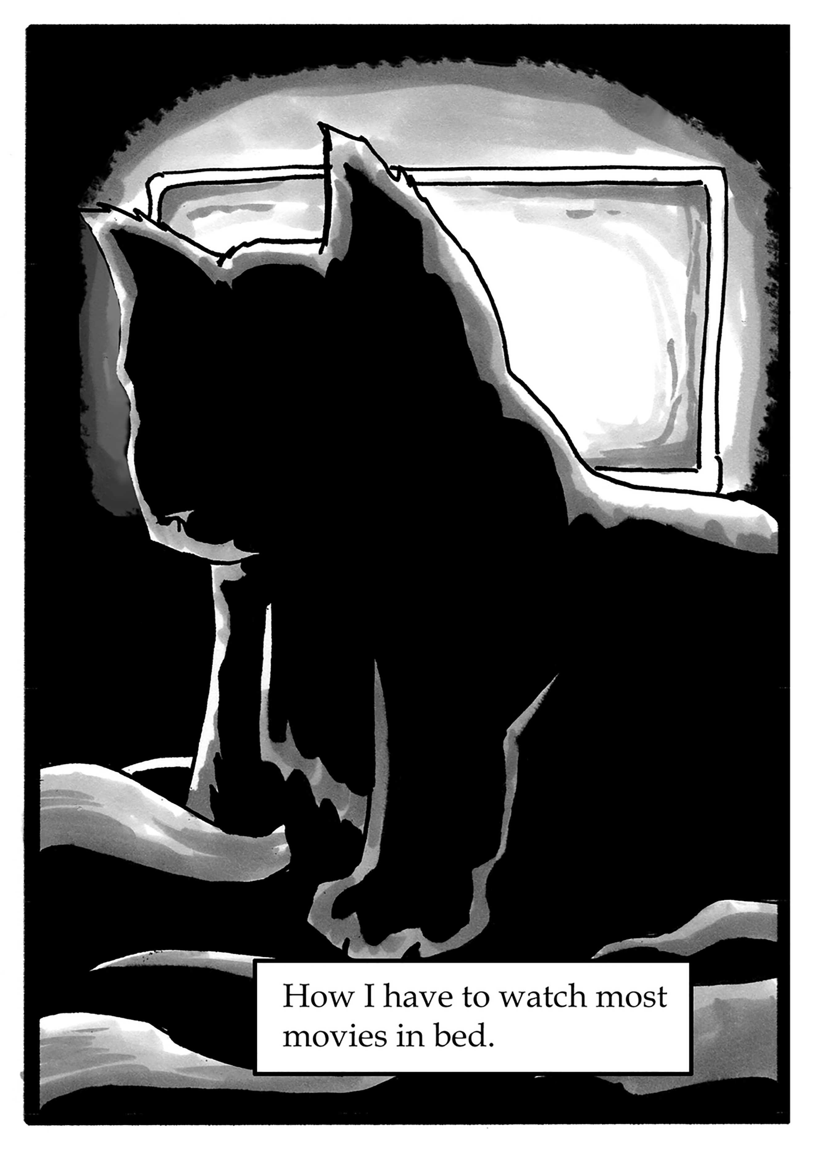 095 – Watching TV in bed